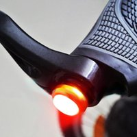 Wholesale Bicycle Handlebar Grips Light - Wholesale- A Pair Bicycle Handlebar Grips Light Bike Turn Signal Lamp Waterproof Indicator Lights LED Flash Lamp Bicycle Accessories Safety
