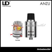 Wholesale velocity rda for sale - Youde ANZU RDA Atomizer Dual Airflow Control with Velocity style Deck mm Diameter Cone Delrin UD ANZU RDA Tank Original