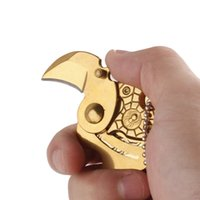 Wholesale Wholesale Letter Openers - Coins Folding Knife Fixed Blade Key Chain Letter Opener Outdoor Survival Camp Tactical Hunting Pocket Knives EDC Tool Gifts 2504089