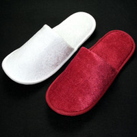 Wholesale Wholesale Hotel Plush Slippers - 10 pairs lot salons clubs SPA household slipper Non-disposable slippers Hotel slippers disposable hotel slippers consumables