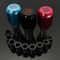 Wholesale Universal Gear Knobs - Universal 5 Speed Aluminum Manual Gear Stick Lever Shift Shifter Knob JDM Black