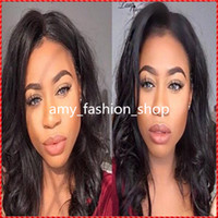 Wholesale Brown Virgin Peruvian Natural Wave - Queen natural color black loose wave glueless peruvian virgin human hair full swiss lace wig human hair wigs for black women with baby hair