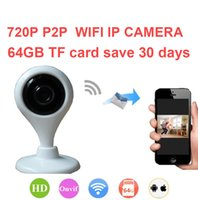 Wholesale Micro Wifi Cctv - Mini Wireless IP Camera 720P CCTV Camera Motion Detect Two Way Audio Wifi Camera Micro SD Slot Free Shipping
