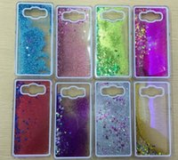 Wholesale Galaxy Ace Bling - Luxury Bling Crystal Dynamic Liquid Glitter Paillette Sand Quicksand Star Case Back Cover for Samsung Galaxy A5 A7 J1 ACE J5