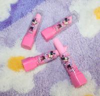 Wholesale Eraser Lipstick Rubber - Lipstick Shape Rotary Rubber Eraser Kawaii Stationery Children Stundent Prize Hello Kitty Fruit Cartoon Style Erasers School Supplies WD467