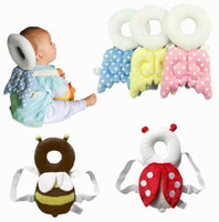 Wholesale Children Nurses - Retail Cute Baby Head Protection Pillow Toddler Head Protective Pad child Polka Dot Animals Neck Wings Nursing Safety HB001