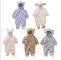 Wholesale boys one piece pajamas for sale - Group buy Warm Baby boy girl rompers One Piece romper pajamas Cartoon animals long sleeve coat toddler Crawling clothes