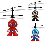 Wholesale Cartoon Black Spider - Cartoon Hero Air Remote Control Flying Ball Batman Spider-Man Flying Ball Captain America Hero Kids Teen Flying Toy
