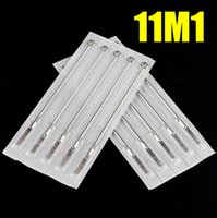 Wholesale Disposable Magnum - 50 Disposable Sterile Tattoo Needles Stainless Steel Magnumr Size 11M1 Tattoo Needles Single Stack Magnum 11 Size