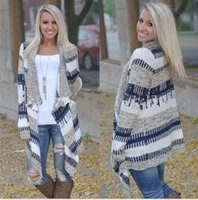 Wholesale Thin Cardigan Knitting Pattern - Wholesale- 2016 New Coat Fashion Temperament Irregular Printed Long-Sleeved Cardigan Sweater Knitted Women Spring Autumn Thin Jackets Coats