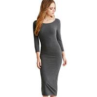44335535c Vestido de outono inverno tamanho grande de algodão de manga comprida na  altura do joelho vestidos de moda cinza vinho tinto vintage bandage maxi  dress