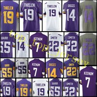 Wholesale Harrison Jersey - Men's #7 Case Keenum 19 Adam Thielen Jersey stitched 22 HARRISON SMITH 14 Stefon Diggs 33 Dalvin Cook 55 Anthony Barr Jerseys