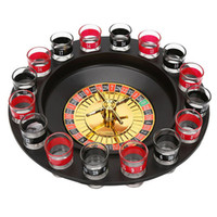 Wholesale Games Deluxe - New Shot Glass Deluxe Russian Spinning Roulette Poker Chips Drinking Game Set Party Supplies Wine Games for Adult Drinken Game