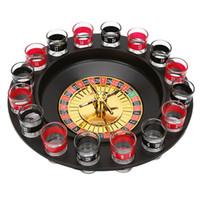 roleta russa venda por atacado-Novo Copo De Vidro De Luxo Russo Giro Roulette Poker Chips Drinking Game Set Fontes Do Partido Do Vinho Jogos para Adulto Beber Jogo