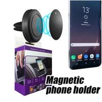 держатель ячейки оптовых-Магнитный автомобильный держатель для вентиляционных отверстий MagGrip 360 Вращение Универсальные держатели для сотовых телефонов Поворотная головка для смартфонов iPhone и Android