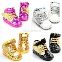 Wholesale angel shoes for sale - Group buy Kids Angel wing Shoes infant Cotton Walkers Girls boys wings Baby First Walkers C3003