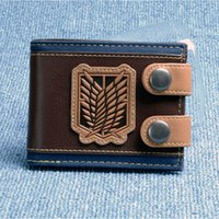 Wholesale Photos Wings - Wholesale- Attack on Titan wings of liberty wallet DFT-1434