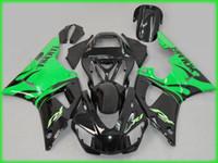 yzf r1 kaplama kiti yeşil toptan satış-YAMAHA YZFR1 98 99 için ABS Yeşil siyah Fairing kiti YZF R1 1998 1999 YZF1000 yzfr1 Enjeksiyon kalıp Fairings set