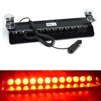 Rojo 12 LED coche de emergencia Dashboard Warning Strobe luces intermitentes