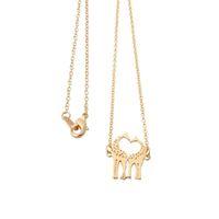 amantes adoráveis, querida venda por atacado-Bonito Animal Acessórios Adoráveis Girafas Mãe e Bebê Pingente Colares Longa Cadeia Colar para As Mulheres Crianças Amantes Vintage Jóias Colar