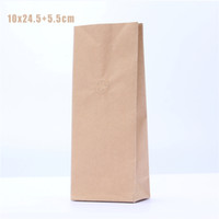 Wholesale Wholesale Flat Kraft Paper Bags - 5 pcs 10x25cm 0.5 Pound Coffee Bags With Valve   Coffee Paper Bags   Kraft Paper Flat Bottom Bags