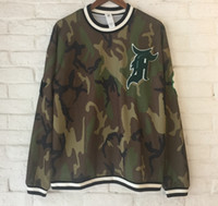 Wholesale High Weight Shorts - 2017 NEW High-weight embroidery camouflage HIPHOP HD 3D printi FEAR OF GOD justin bieber MEN Round neck Sweatshirt Hoodies free delivery