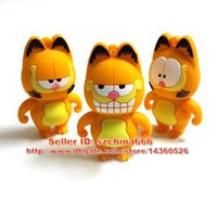 Barato Gatos Drive Pen-Pen Drive Garfield Cat Sleepy 1GB 2GB 4GB 8GB 16GB USB Flash Drive Memory Stick Pendrive Pendrive