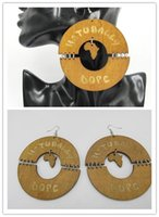 Wholesale Dope Wholesale - 2016 Newest Light Brown color african Naturally Dope Earrings