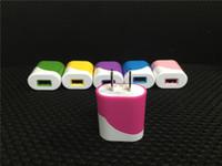 iphone kekleri toptan satış-Kek Desen Hibrid Renk 5 V Gerçek 1.0A 1 USB Duvar şarj AC adaptörü Akıllı telefon IÇIN 100 adet / grup