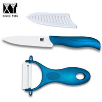 Wholesale Global Utilities - XYJ modern ceramic kitchen knife set 4 inch utility fixed blade knife with one sharp unilateral blade peeler global knife set