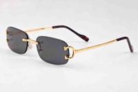 Wholesale Designer Sunglasses Clear Lens - new brand designer persol rectangle sunglasses man fashion jawbreaker rimless black clear lens polarized sunglasses come with box