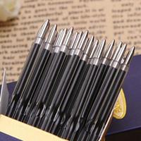 plumas de tinta retráctil al por mayor-100 unids / lote 0.7 mm Recambio de Bolígrafo Adecuado para Pluma Retráctil Negro / Tinta Roja Tinta de Escritura Repuestos de Oficina de la Escuela Papelaria