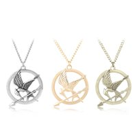 Wholesale mockingjay hunger games pendant - The Hunger Games Inspired Mockingjay And Arrow Necklace Silver Gold Bronze Bird Pendant Chains Fashion Jewelry Drop Shipping