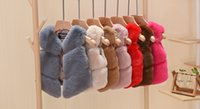 Wholesale Korean Warm Clothing - 2017 Baby Girls Faux Fur Waistcoats Kids Girls Fashion warm outwear Girls Korean Cardigan kids Autumn Winter clothing