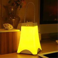 led eiffel kuleleri toptan satış-Eyfel Kulesi LED Gece Lambası şarj edilebilir kablosuz Taşınabilir Lamba Gece lambası Parlaklık ayarlanabilir Zamanlama anahtarı