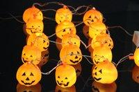 Wholesale Halloween Sites - Wholesale Halloween pumpkin lights string ghost head string lights led lights bar site props festive supplies