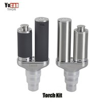 Wholesale Technology Wholesale - Authentic Yocan Torch Wax Dry Herb 2 in 1 Vaporizer Kits with Quartz Dual Coil Nero Technology Design