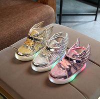 online Shopping Led Luminous Shoes - Children Sneakers Kids LED Luminous Wings Shoes Girls Boys Baby Boys Girls Sneakers Light up Shoes KKA3582