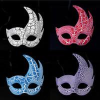 Wholesale Cracking Bar - 2016 Women Crack Flame Masquerade Masks Party Carnival Mask Halloween Mask Bar Club Show Half Face Mask