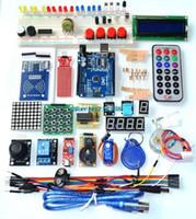 lcd для arduino оптовых-Оптово-UNO R3 KIT Модернизированная версия начального набора RFID Learn Suite LCD 1602 для набора Arduino