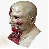 New Hot Horror Halloween Crise Bioquímica Cosplay Latex Costume Bloody Zombie Mask Melting Full Face Walking Dead Scary Party Masks DHL