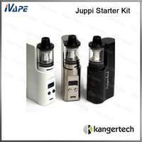 Wholesale kanger box kit for sale - Group buy 100 Orignal Kanger Juppi Starter Kit W ML Kangertech Juppi Tank Top Filling Symmetric Airflow Slots Atomizer With Juppi TC Box Mod