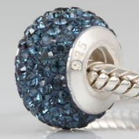 Wholesale Sterling Silver Bead Strands - 925 sterling silver drill pipe diamond beads, Fashion bracelet beads. Free Shipping