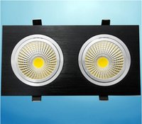 Double Faces Led COB Down Lights Lamp 120 Beam Angle Nature / Warm / Cool White Поддержка Dimmable 110-240V для домашнего декора