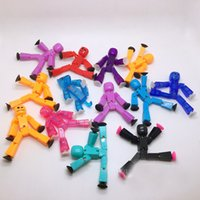 Wholesale Toys Robot Avengers - 10pc lot Randomly sending cute stikbot Sucker Suction Cup funny deformable sticky Robot action figure toys Christmas Gift for children