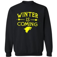 Men cashmere games - upset Man long Sleeve Mens Cotton O Neck cashmere Creative Game of thrones Hoodies Sweatshirts Men Winter is coming