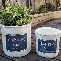 Wholesale Wholesale Powder Coating Supplies - DIY Creative Classic Retro Cement Succulent Plant Flowerpot For Home Office Decoration Light Garden Supplies