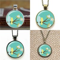 Wholesale Bracelets Ideas - 10pcs Mothers Day ift Idea ifts For Mom Birds On A Branch Art Pendant Necklace keyring bookmark cufflink earring bracelet