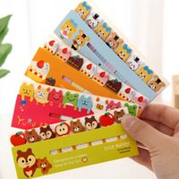 Wholesale Stickers Notes - 10 sets lot Kawaii Cute Post-It Bookmark Marker Memo pad Flags Index Tab Sticky Notes Label Paper Stickers Notepad Stationery