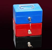 Wholesale Wholesale Black Candy Box - Safe Small Coin Piggy Bank Metal Saving Money Box Black Cash Money Box With Locks Tirelire Banco Monedas